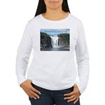 Montmorency Falls at Large Women's Long Sleeve T-S