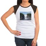 Montmorency Falls at Large Women's Cap Sleeve T-Sh