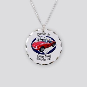 Triumph Spitfire Necklace Circle Charm