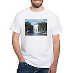 Montmorency Falls at Large White T-Shirt