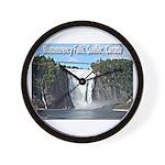 Montmorency Falls at Large Wall Clock