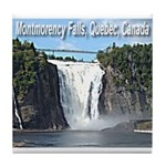 Montmorency Falls at Large Tile Coaster