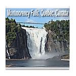 Montmorency Falls at Large Tile Coaster