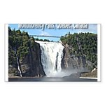 Montmorency Falls at Large Rectangle Sticker