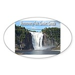 Montmorency Falls at Large Oval Sticker