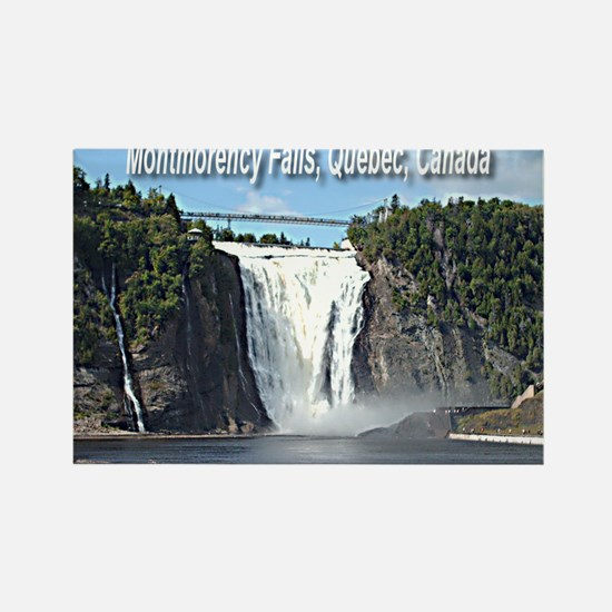Montmorency Falls at Large Rectangle Magnet
