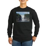 Montmorency Falls at Large Long Sleeve Dark T-Shir
