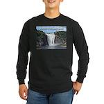 Montmorency Falls at Large Long Sleeve Dark T-Shir