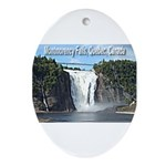 Montmorency Falls at Large Oval Ornament