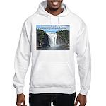 Montmorency Falls at Large Hooded Sweatshirt
