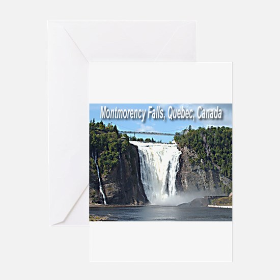 Montmorency Falls at Large Greeting Card