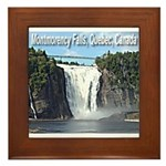 Montmorency Falls at Large Framed Tile
