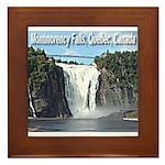 Montmorency Falls at Large Framed Tile
