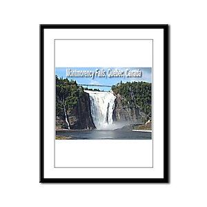 Montmorency Falls at Large Framed Panel Print