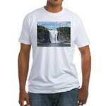 Montmorency Falls at Large Fitted T-Shirt
