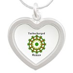 Turbocharged Human Silver Heart Necklace