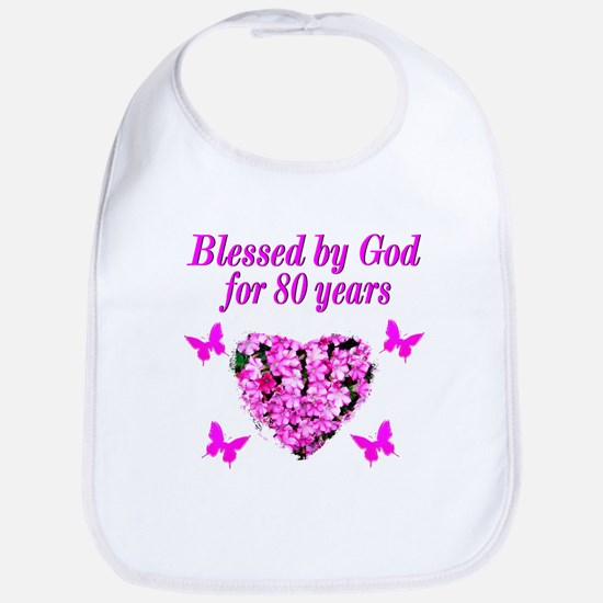BLESSED 80TH Bib