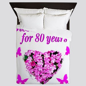 BLESSED 80TH Queen Duvet