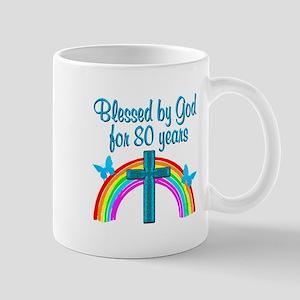 BLESSED 80TH Mug