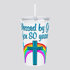 BLESSED 80TH Acrylic Double-wall Tumbler