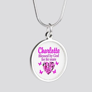 80TH PRAYER Silver Round Necklace