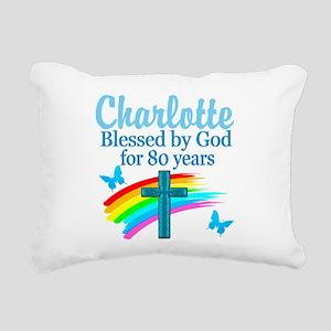 80TH PRAYER Rectangular Canvas Pillow