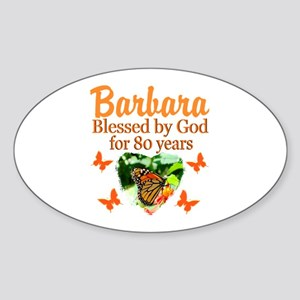 80TH PRAYER Sticker (Oval)