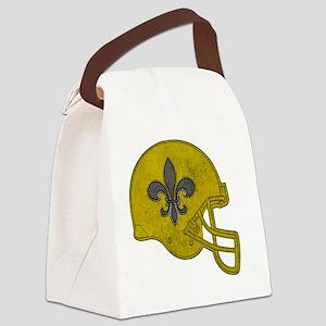 Rustic Helmet Canvas Lunch Bag