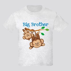 Monkeys Big Bro w. Little Sis Kids Light T-Shirt