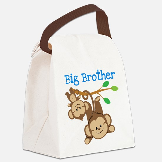 Monkeys Big Bro w. Little Sis Canvas Lunch Bag