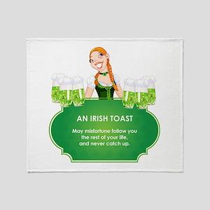 AN IRISH TOAST Throw Blanket