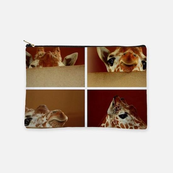 Giraffe Collage Makeup Bag