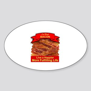 EAT MORE BACON Sticker (Oval)
