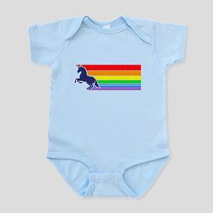 '80s Vintage Unicorn Rainbow (distressed look) Bod