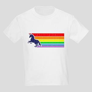'80s Vintage Unicorn Rainbow (distressed look) T-S