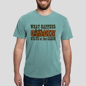 Happens At The Cabin Mens Comfort Colors T-Shirt