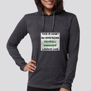 awesome payroll manager Womens Hooded Shirt