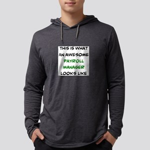 awesome payroll manager Mens Hooded Shirt