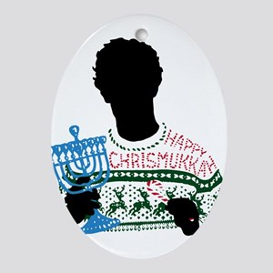 The Oc Happy Chrismukkah Oval Ornament