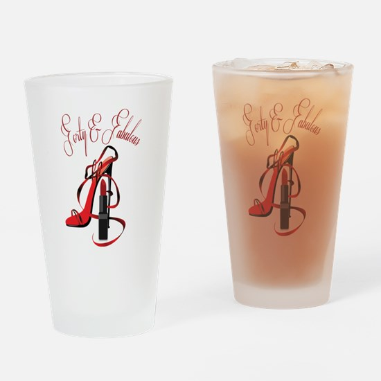 Cool Forty Drinking Glass