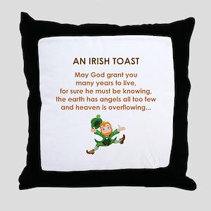 AN IRISH TOAST Throw Pillow