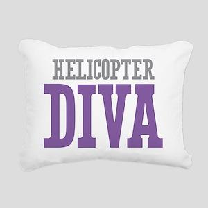 Helicopter DIVA Rectangular Canvas Pillow