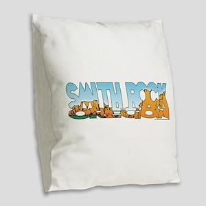 Smith Rock Burlap Throw Pillow