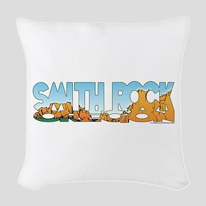 Smith Rock Woven Throw Pillow