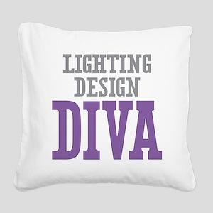 Lighting Design DIVA Square Canvas Pillow
