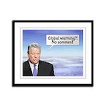 Al Gore's Global Warming Lie Framed Panel Print