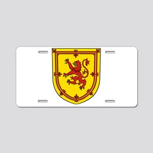 Royal Arms of Scotland Aluminum License Plate
