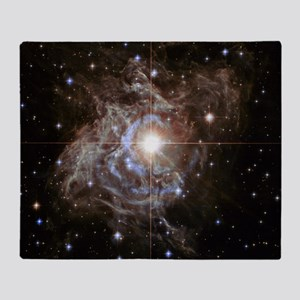 Bright Star in Universe Throw Blanket