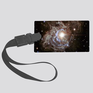 Bright Star in Universe Large Luggage Tag