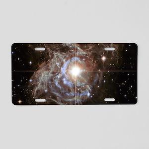 Bright Star in Universe Aluminum License Plate